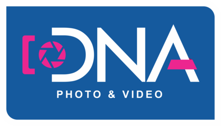Logo de Fotografo casamento, 15 anos, Patrocínio, DNA Photo e Video